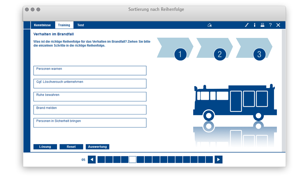 Aufgabentemplate für: Sortierung nach Reihenfolge
