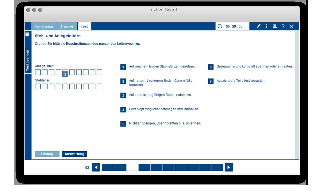 Aufgabentemplate für: Text zu Begriff