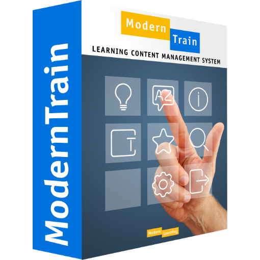 Verpackung Learning Content Management System ModernTrain